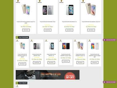 Phone Foil shop - wordpress