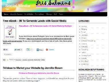 Iris Salmins - Social Media Tips