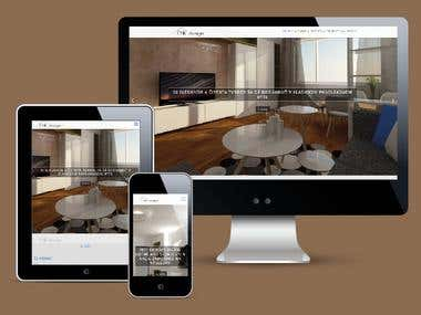Website for EMK interior design