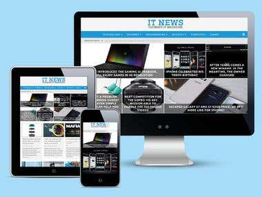 Website for ITNEWS IRELAND