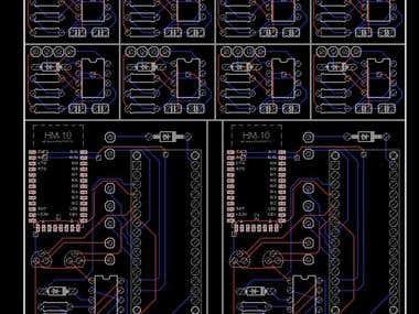 Arduino + HM10 PCB Design