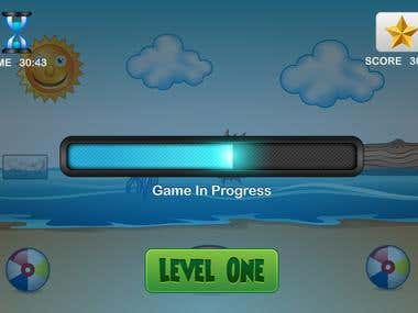 iphone ui , splash and game