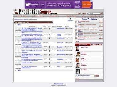 A-Z in http://www.predictionsource.com