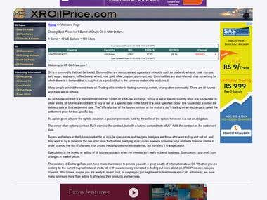 Built www.xroilprice.com from ground up