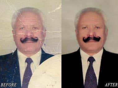 restoration of old photos, coloring black and white photos