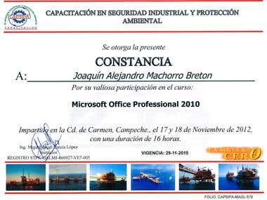 Microsoft Office 2010 certification
