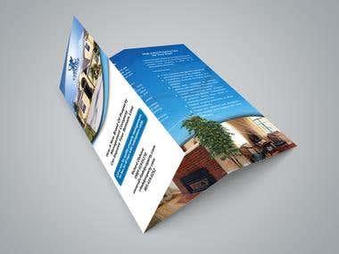 Presentation folder and tri fold flyer design