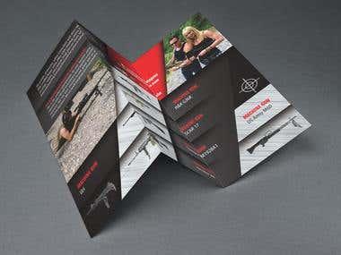 tri fold flyer design concept