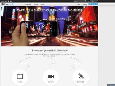 Liveonly website design (secound one)