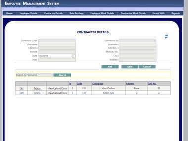 Employee and shift/Attendance management system