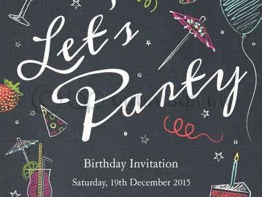 Party Invitation @OptimalPrint