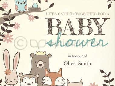 Babyshower invitation @OptimalPrint