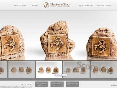 Custom CMS for a stone sculptor