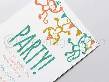 Party Invitation for @GreetingsIsland