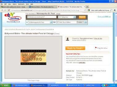 My Ebay Work Sample