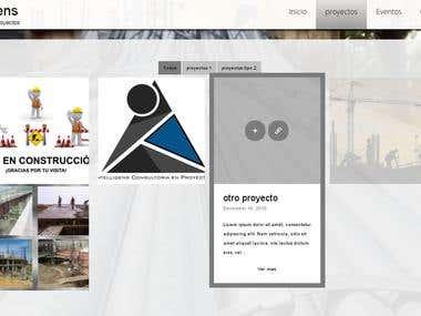 sitio web para empresa Intelligens