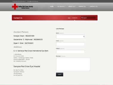 Website for red cross branch