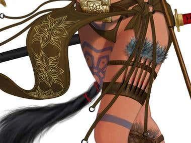 Horned Girl concept