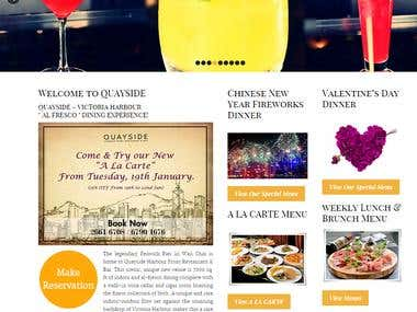 quaysidehongkong Hotel Website