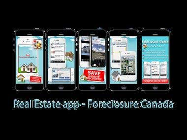 Real Estate app - Foreclosure Canada