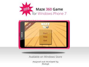 Maze 360 Game for Windows Phone 7