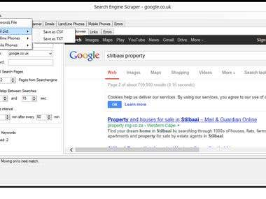 Search Engine Email Scanner