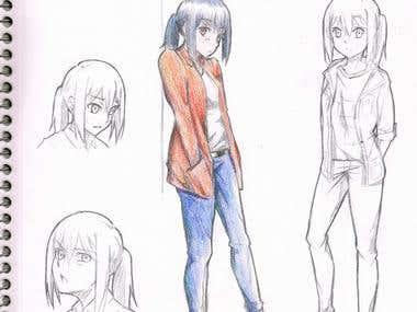 Manga style drawings
