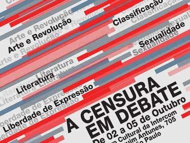 Comunicação Visual do Seminário Censura em Debate da ECA-USP