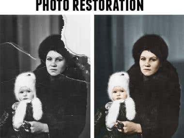 Old photo restauration
