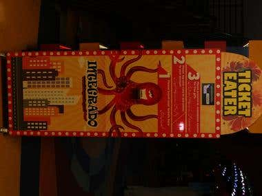 Design Pakistan's 1st Tickets Eater Redemption Machine