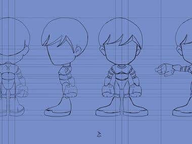 Character design Model Sheet
