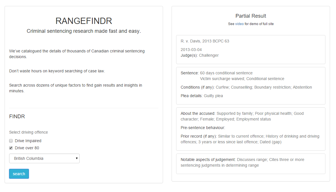 Web App - RangeFindr