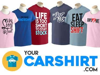Text Only Car Shirts