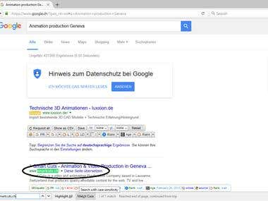 Google Top 1 ranking for Smartcuts.ch