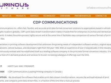 CDP COMMUNICATIONS