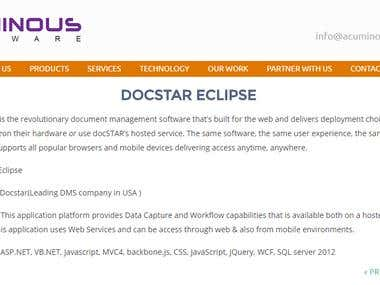 Docstar(Leading DMS company in USA )