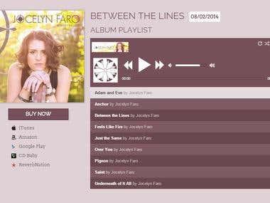 Music artist site
