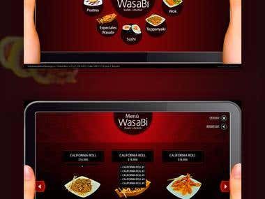Wasabi Sushi Lounge - Web Design