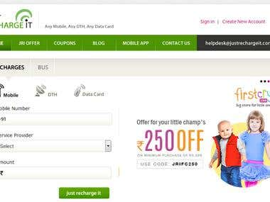 Online recharge website