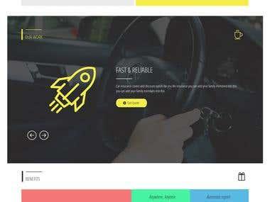 Insurance Company Website Project