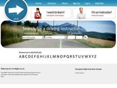 Driving instructor comparison website