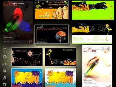 design cards, postrers, magazins ....