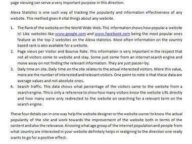 Alexa Statistics - A Technical Explanation