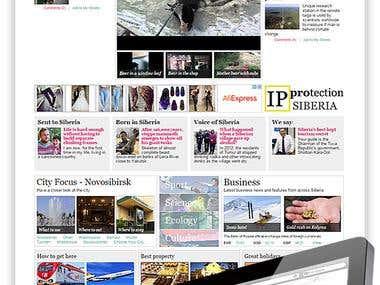 Siberian Times. Web design