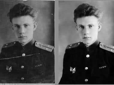 Restoration of the damaged photos