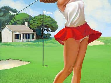 Pinup golf