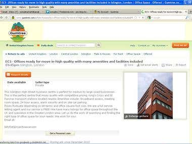 Here is a sample of my Gumtree Ad Posting Job