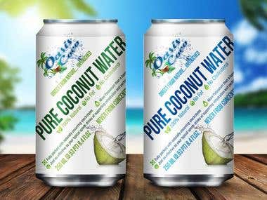 Coconut Water Label Design, Oasis Coco, USA !