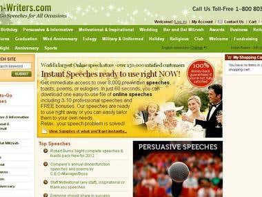 SEO Work for www.speech-writers.com