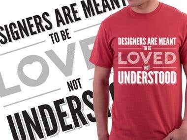 Typographic T-Shirt Designs